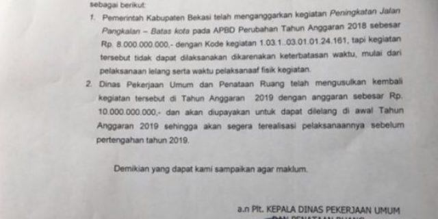 """Usulan Perbaikan Jalan TA. 2019 Naik 2 Milyar…??"""