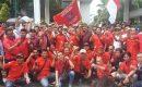Ratusan Massa PBB Bersama PRM Lakukan Unjuk Rasa di Gedung MA