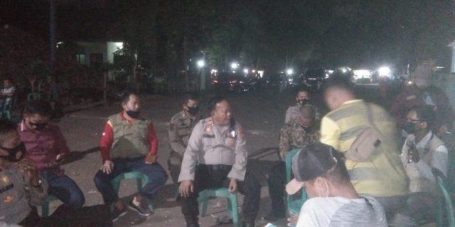 Polsek Bantar Gebang dan Satpol PP Hentikan Hiburan Dangdut di TPA Sumur Batu